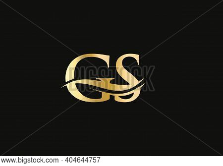 Modern Gs Logo Design For Business And Company Identity. Creative Gs Letter With Luxury Concept.