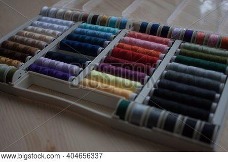 Colorful Yarn On Spool, Yarn On Tube, Cotton, Wool, Linen Thread