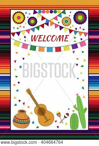 Mexican Fiesta Invitation. Design Template For Wedding Party Invitation, Fiesta, Cinco De Mayo, Birt