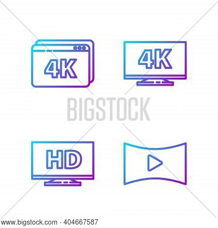 Set Line Online Play Video, Smart Display With Hd Video, Online Play Video With 4k And Screen Tv Wit