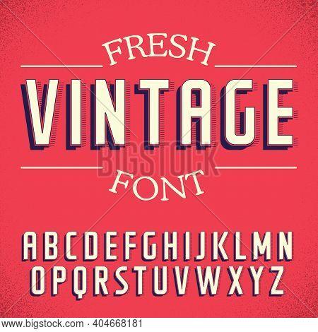 Fresh Vintage Font Poster On Red Background Vector Illustration
