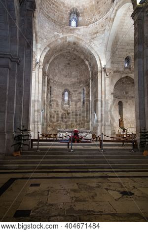 Jerusalem, Israel, January 30, 2020: Interior Of St. Anne's Church Next To Pool Bethesda In Jerusale