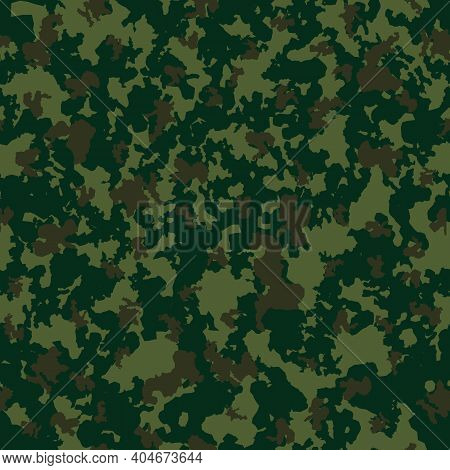 Abstract Camouflage Khaki Seamless Pattern Background. Vector Illustration Eps10