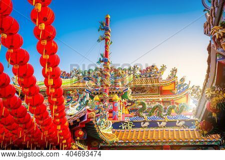 Munlanithi Prasatbun Sathan Shrine Is A Chinese Shrine Ancient Chinese Art ,is A Public Place Thaila