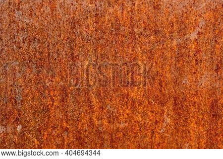 Rusty Corrosive Wall, Iron Covered With Rust And Corrosion Paint. Rust Metal Background. Grunge Stee
