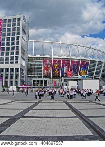Kiev, Ukraine - June 15: Renewed Olympic Sport Stadium Before Match Sweden-england On June 15, 2012