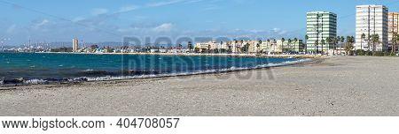 Panorama View Of La Linea De La Concepcion And The Playa De Poniente Beach