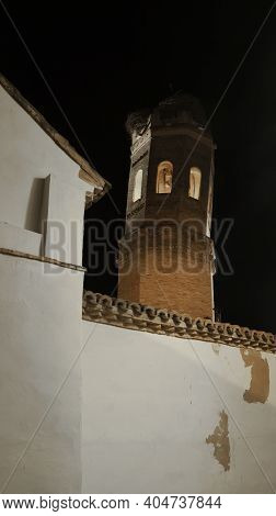 Leaning Bell Tower, Of The Catholic Parish Of La Virgen Del Rosario, Mudejar Style, Region Of Ribera
