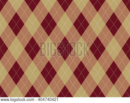 Argyle Pattern Seamless. Fabric Texture Background. Classic Argill Vector Ornament.