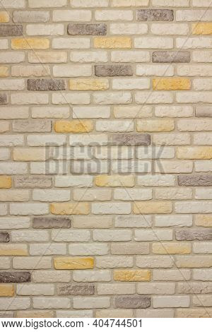 An Example Of Facing An Internal Partition In A Room Of A House With Decorative Gypsum Bricks With T