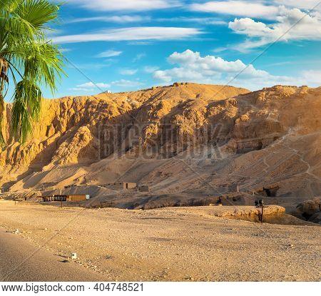 Mountain Near The Temple Of Hatshepsut In Egypt