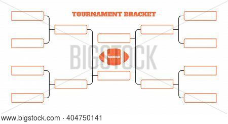 8 American Football Team Tournament Bracket Championship Template Flat Style Design Vector Illustrat