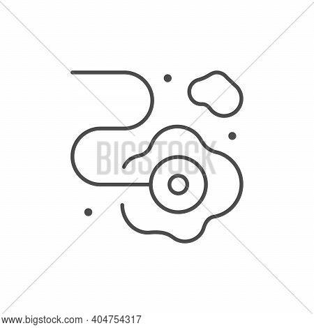 Anti Leakage System Line Icon Isolated On White. Vector Illustration