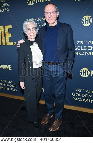 LOS ANGELES - JAN 05:  Writer Michael Tolkin arrives for Showtime Golden Globe Nominee Celebration Premiere on January 05, 2019 in West Hollywood, CA