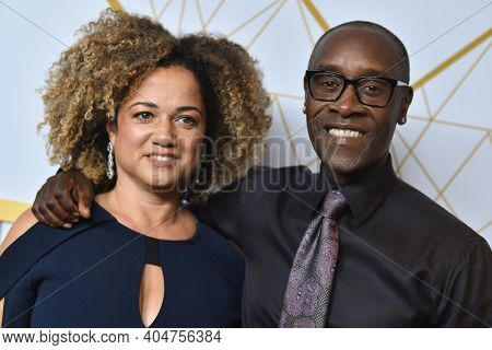 LOS ANGELES - SEP 21:  Don Cheadle and Bridgid Coulter arrives for Showtime Celebrates Emmy Eve on September 21, 2019 in West Hollywood, CA