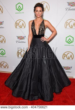 LOS ANGELES - JAN 19:  Actress Kate Beckinsale arrives for the 30th Annual Producers Guild Awards on January 19, 2019 in Beverly Hills, CA