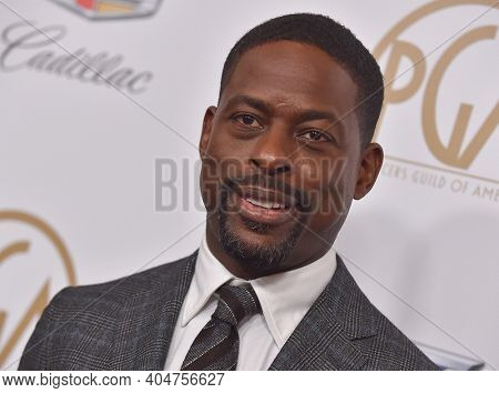 LOS ANGELES - JAN 19:  Actor Sterling K. Brown arrives for the 30th Annual Producers Guild Awards on January 19, 2019 in Beverly Hills, CA