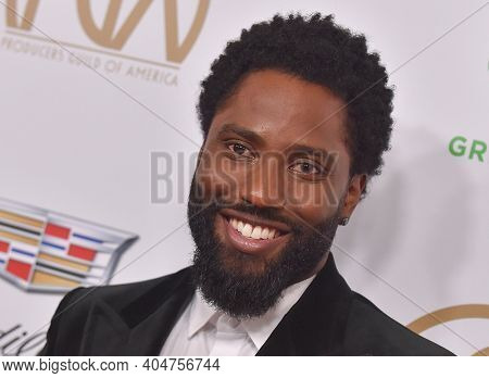 LOS ANGELES - JAN 19:  Actor John David Washington arrives for the 30th Annual Producers Guild Awards on January 19, 2019 in Beverly Hills, CA