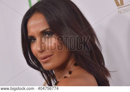LOS ANGELES - JAN 19:  Television Host Padma Lakshmi arrives for the 30th Annual Producers Guild Awards on January 19, 2019 in Beverly Hills, CA