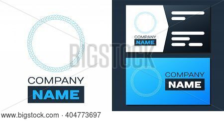 Logotype Rope Frame Icon Isolated On White Background. Frames From Nautical Rope. Round Marine Rope