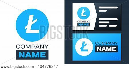 Logotype Cryptocurrency Coin Litecoin Ltc Icon Isolated On White Background. Digital Currency. Altco