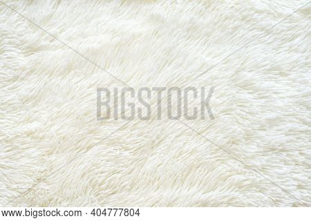 Pure Light White Faux Fur Textured Rug