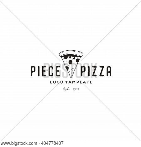 Retro Vintage Pizza / Pizzeria Logo Design Vector
