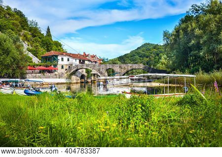 Famous Stari Most In A Small Town Of Montenegro