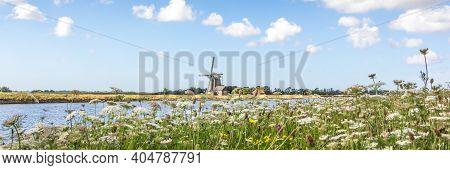 Dutch Windmill Het Noorden At The Wadden Island Texel In The Netherlands.