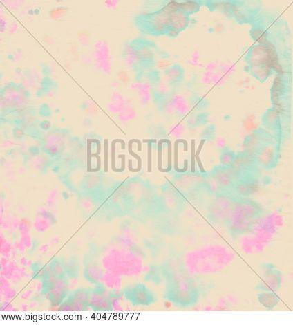Pastel Spiral Tie-dye. Hippie Circle Background. Color Print. Psychedelic Old Pattern. Tye Dye Art B