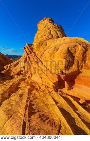 Valley of Fire State Park, Nevada, USA. Unusual natural landscapes.