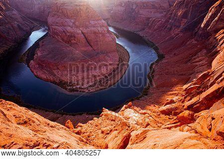 Horseshoe Bend, Page, Arizona. Horse Shoe Bend On Colorado River, Grand Canyon
