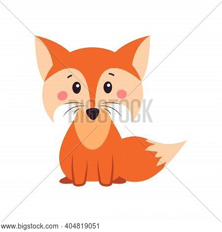 A Fox. Orange Fox. Fox Can Use A Logo Or Badge. Illustration On White Isolated Background