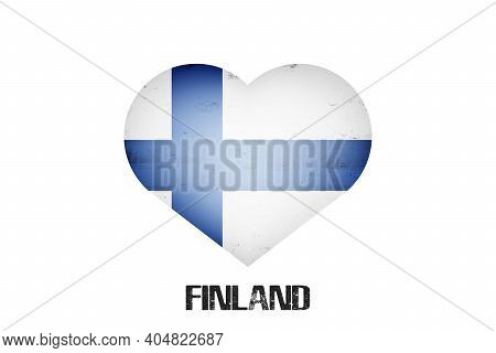 Flag Of Finland In The Form Of A Heart