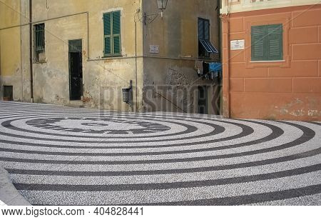 Nostra Signora Della Concordia Church Square In Albissola Marina, Italy