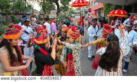 Jodhpur, Rajasthan, India - 19th October 2019 : Celebration Of Sindhi Marriage At A Hotel, Tradition