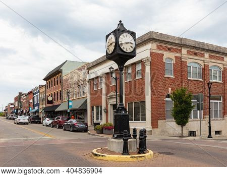 The Old Historic Buildings At Main Street, In Cape Girardeau, Missouri, Usa