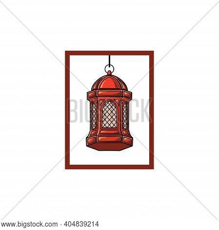 Arabic Lamp Vector. Arabic Lamp Illustration. Lamp Symbol. Ramadan Symbol And Sign. Ramadan Celebrat