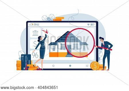 Home Appraisal Concept. Real Estate Appraisers Are Doing Property Inspection Of The House. Real Esta