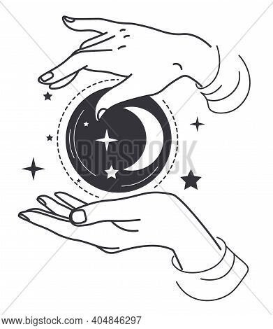 Hands With Witch Bauble Future Telling Witchcraft