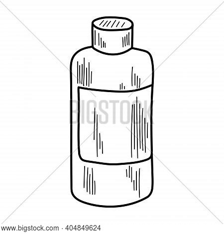 Vector Illustration Of Face Cleanser Or Lotion. Beauty Accessories And Skin Care Products. Face And