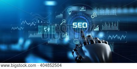 Seo Search Engine Optimisation Digital Marketing Online Promotion Internet Business Concept. 3d Rend