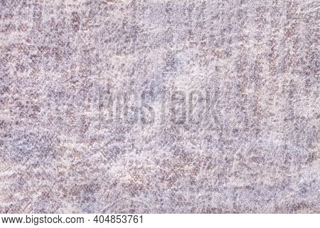 Light Gray And Pearl Fluffy Background Of Soft, Fleecy Fabric. Texture Of Ivory Velveteen Textile Ba