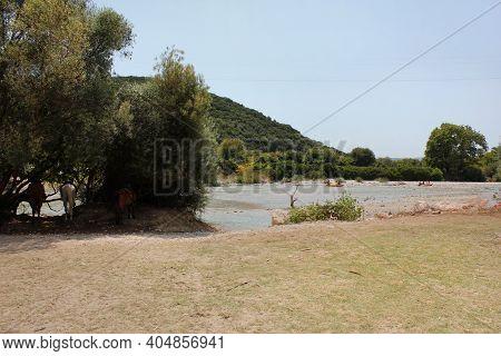 Acheron Or Acherontas River Epirus In Greece