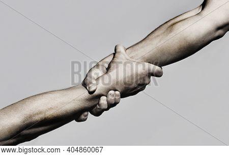 Helping Hand Concept And International Day Of Peace, Support. Helping Hand Outstretched, Isolated Ar