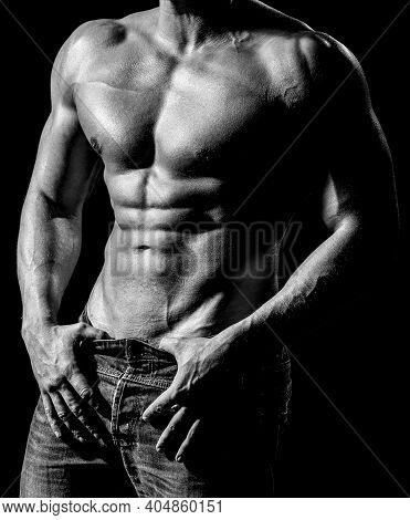 Strong Mans, Bodybuilder, Muscular Men. Beautiful Male Torso. Sexy Man, Naked Body, Nude Male. Sexy