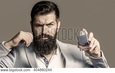 Man Perfume, Fragrance. Perfume Or Cologne Bottle, Perfumery, Cosmetics, Scent Cologne Bottle, Male