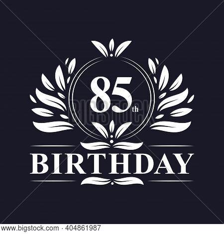 85 Years Birthday Logo, Luxury 85th Birthday Design Celebration.