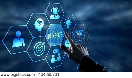 Business, Technology And Network Concept.employee Benefits Help To Get The Best Human Resources. Bus