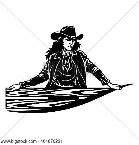 Cowgirl, Girl, Wild West , Cricut Silhouette Svg, Vector Clip Art, Cut Ready Files